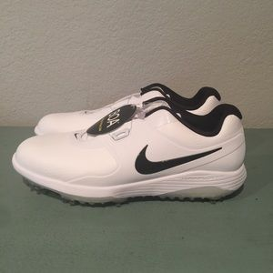 Nike Vapor Pro Boa Wide Golf Shoes White Black